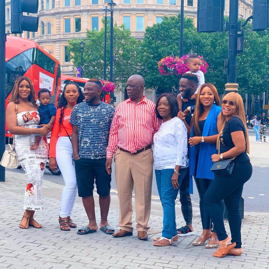 Linda Ikeji's love up family Photos