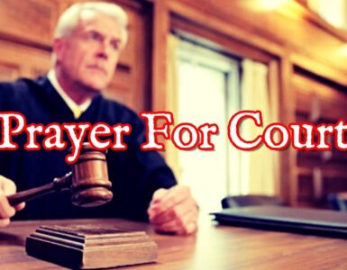 Prayers for victory in court case